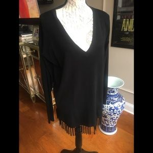 Central Park West top with fringes